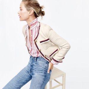 J. CREW Fringed Nautical Tweed Jacket, 12